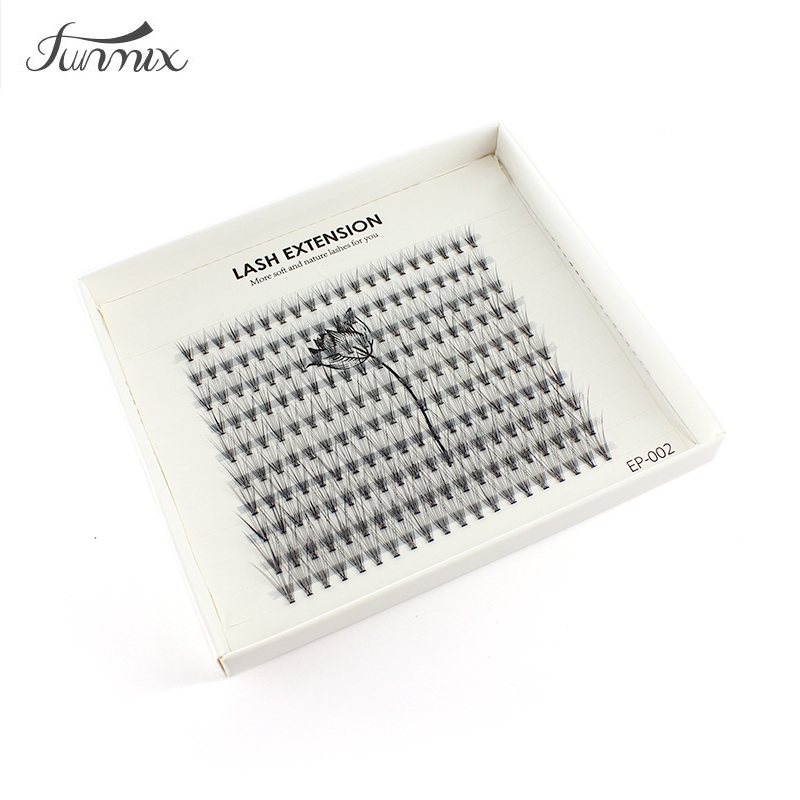 200pc FUNMIX 8-14mm MIX Length Handmade False Eyelashes Grafting Natural Eye Lashes Extensions Natural False Lashes