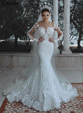 Wedding 2019 New Sexy Fishtail Dress Shoulder V-neck Water Soluble Lace Tail