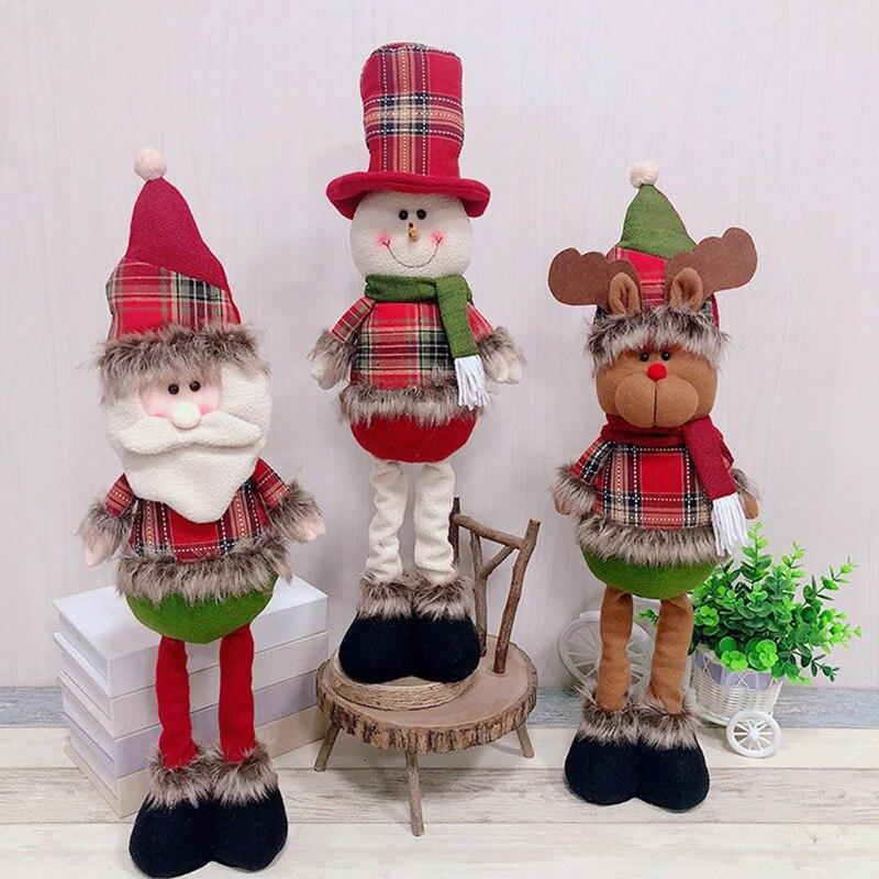 Christmas Stretchable Telescopic Doll Santa Claus Snowman