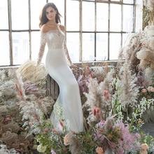 Verngo Appliques Mermaid Wedding Dress Ivory Chiffon Gowns Custom Made Bride Vestido De Noiva