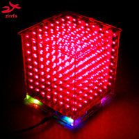 DIY 3D8 LED Mini Cubes Excellent Animation 8x8x8 Kits Junior 3D Red CUBES LED Display Christmas