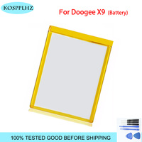 KOSPPLHZ battery New For Doogee X9 batteries Mobile phone back cover battery replacement high quality X 9 +tools
