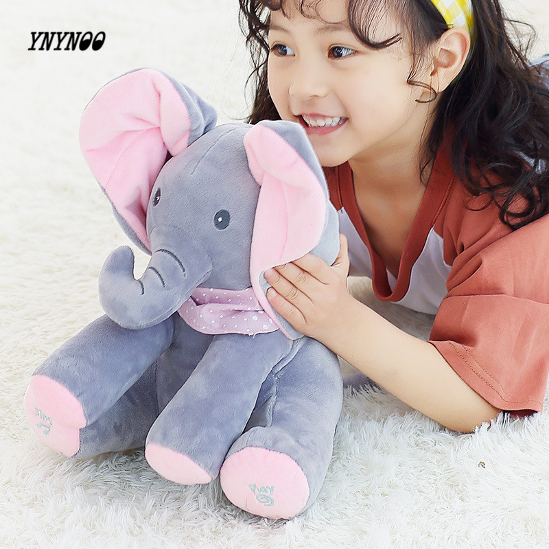 YNYNOO 30cm Peek a boo Electric Elephant Plush Toy The Elephant Play Hide And Seek Lovely Cartoon Stuffed Elephant Birthday Gift напольная плитка cercom crystal beige lap ret 60x60