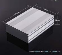 Aluminum Enclosure Electrical Project Box Split Type Enclosure PCB Shell 145x54x200mm DIY Amplifier Distribution Box