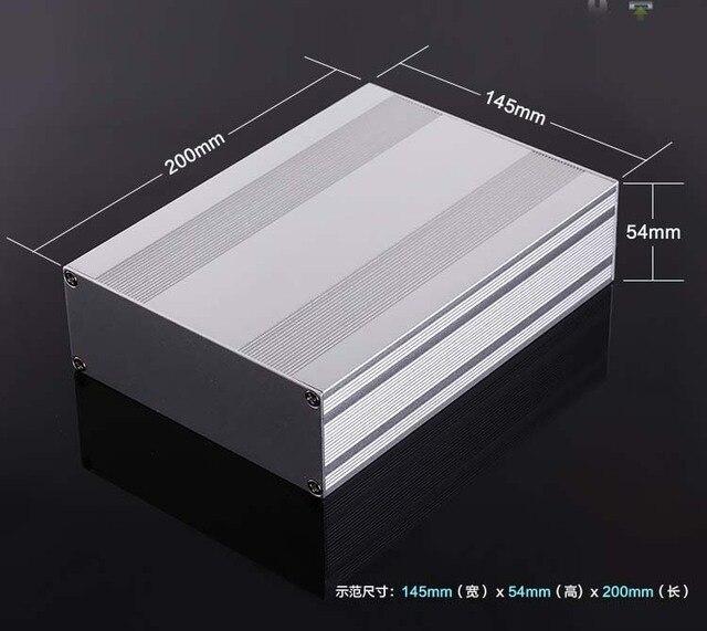 מארז אלומיניום פרויקט תיבת פיצול סוג מארז PCB 145x54x200mm DIY מגבר הפצת תיבה