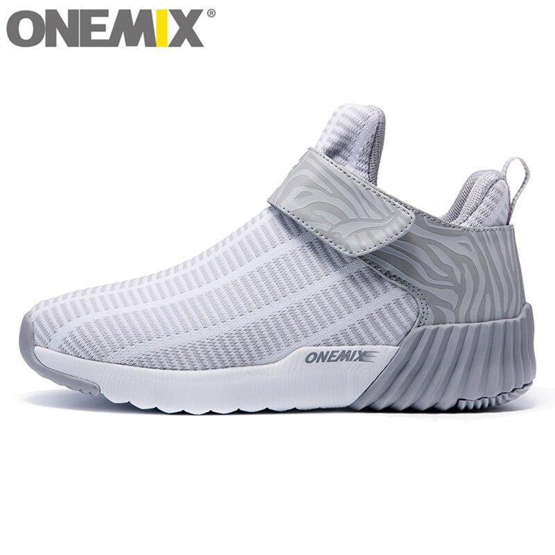 ONEMIX nouvelle lumière unisexe haute bottines femmes chaudes chaussures de course en plein air hommes chaussures de Sport athlétique chaussures de Sport confortables