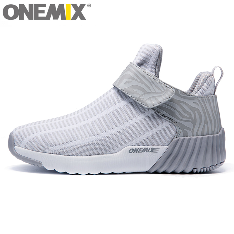 ФОТО onemix New Winter Unisex High Ankle Boots Warm Women Running Shoes Outdoor Men Athletic Sport Shoes Comfortable Sneakers