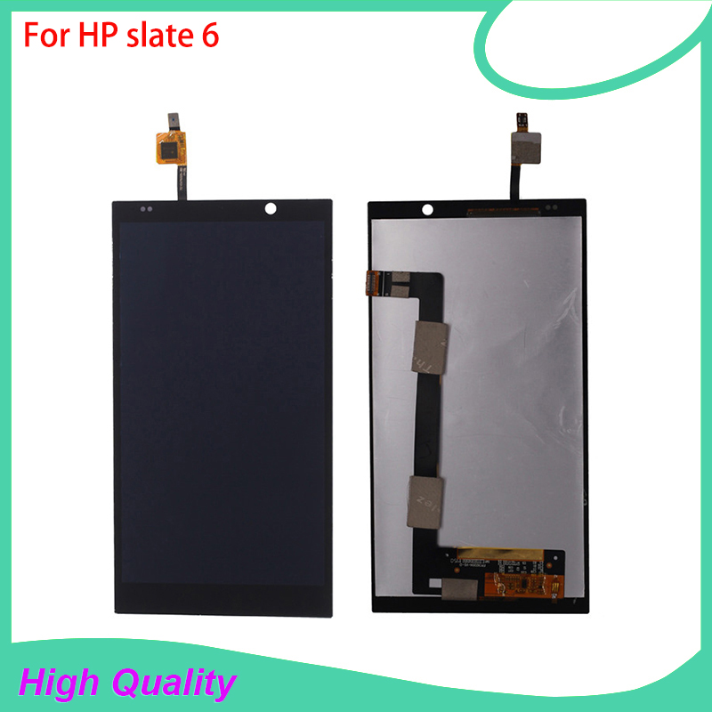 LCD Display Touch Screen Digitizer Assembly For HP slate 6 VoiceTab Slate6 Black Color Replacement Mobile Phone LCDs