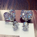 Free shipping Fashion Rose Gold /Platinum Plated Fashion Crystal Earrings Jewelry wholesale waterdrop for women Gift