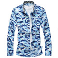 New 2017 spring military style fashion camouflage printed long sleeve shirt men chemise homme men shirt plus size m-7xl CS1