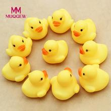 MUQGEW Brand 20pcs lot Float Water Swimming Child s Play Mouth Mini Small Yellow Rubber Duck