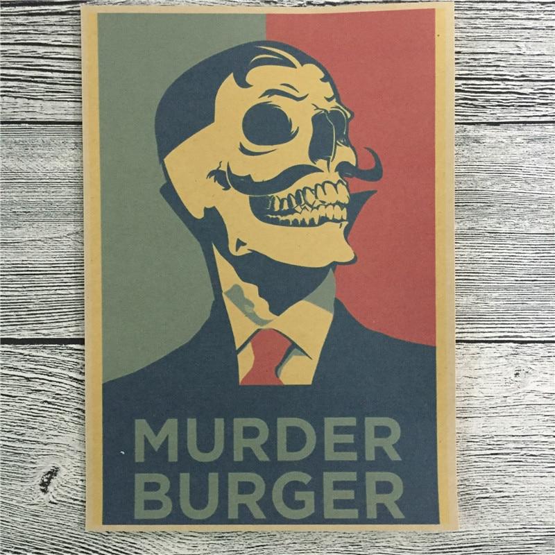 """New arrival RZSA 074 home decor poster kraft paper """"MURDER"""