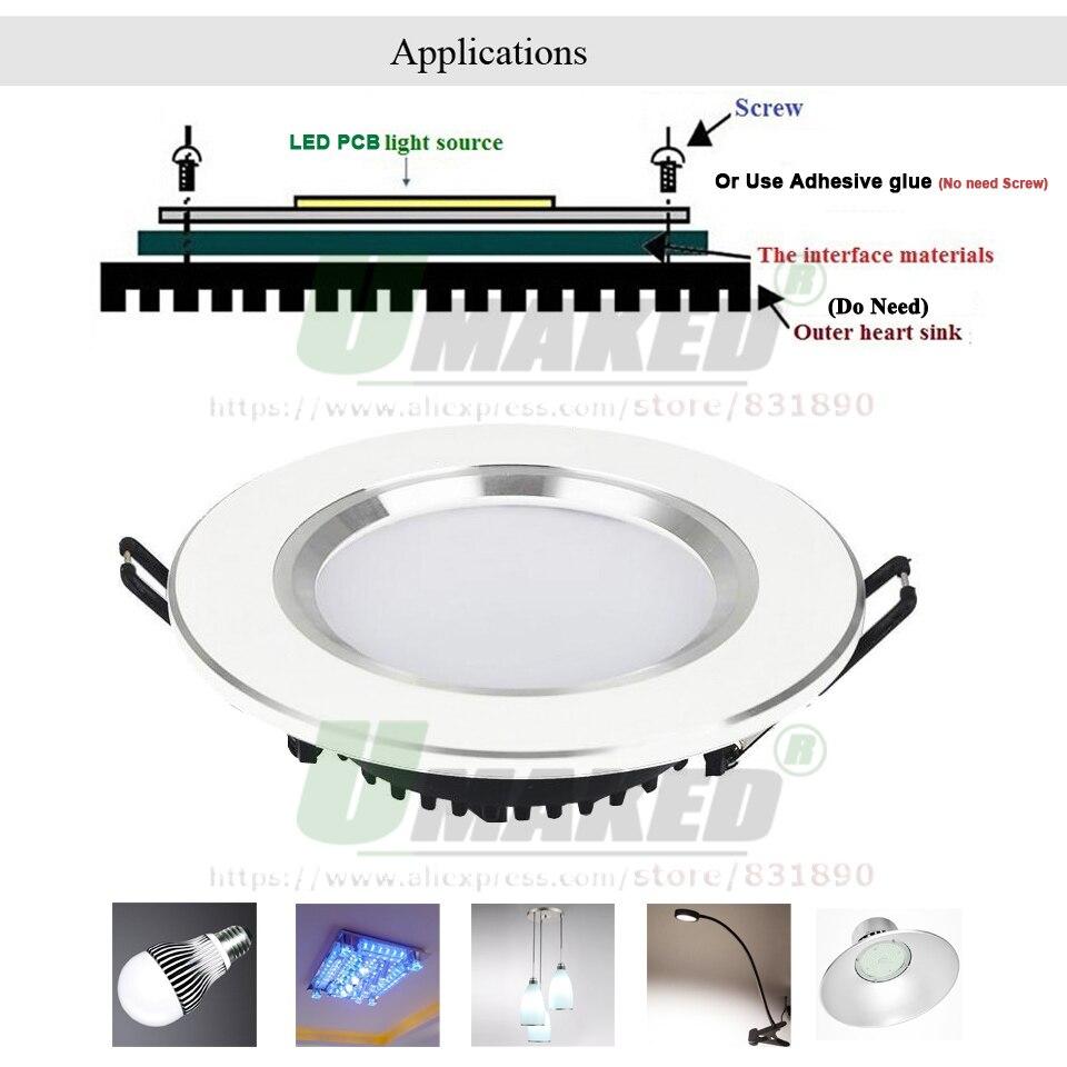 UMAKED 70 W 113mm LED PCB SMD5730 puce LED Source plaque de lampe en aluminium chaud/naturel/blanc bricolage plafonnier ampoule baie lumière spot - 6