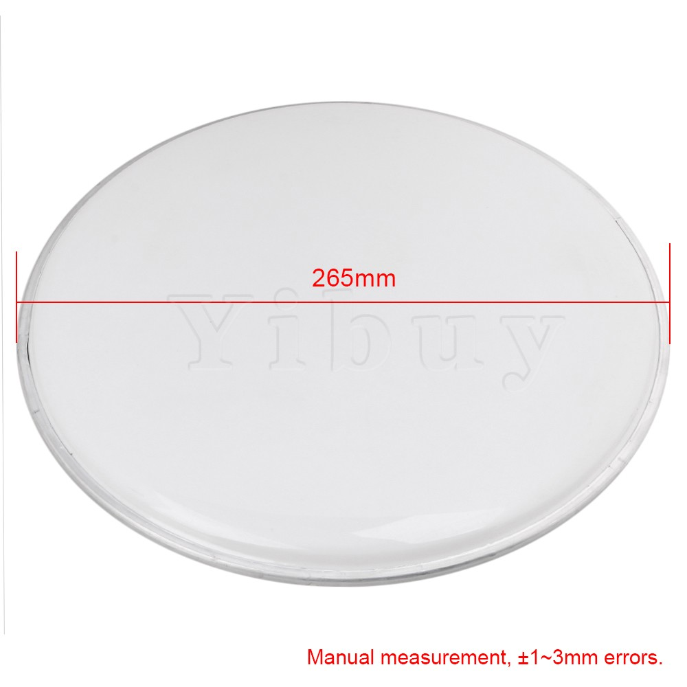 yibuy 268mm diameter translucent resin single ply drum heads drum skins percussion accessories. Black Bedroom Furniture Sets. Home Design Ideas
