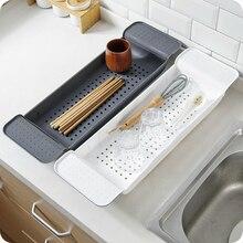 Nova banheira de armazenamento rack banho bandeja prateleira chuveiro banheira ferramentas do banheiro maquiagem organizador toalha plástico pia da cozinha dreno titular