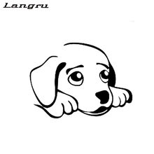 Langru Sweet Dog Animal Car Sticker Decals Vinyl Decals Car-styling Accessories Decorative Jdm(China)