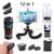 Nueva 12X Teleobjetivo Lentes Zoom Lente Macro ojo de Pez de Ancho lentes de ángulo con trípode clips selfie stick para android bluetooth obturador