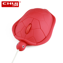 CHYI 3D Wired Mouse Creative Cartoon Turtle Shape Computer Mouse Gaming Optical Mause Cheap Mice for PC Laptop Gift(China)