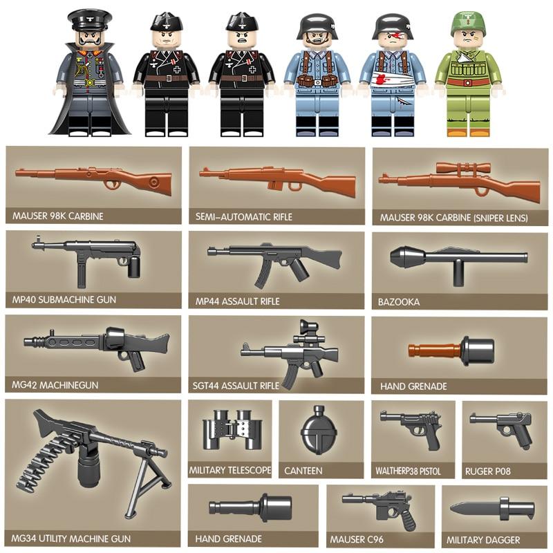 1018 pièces réservoir militaire WW2 blocs de construction compatibles avec la ville Jedi réservoir tigre 131 briques combattant armes jouets pour garçons - 4