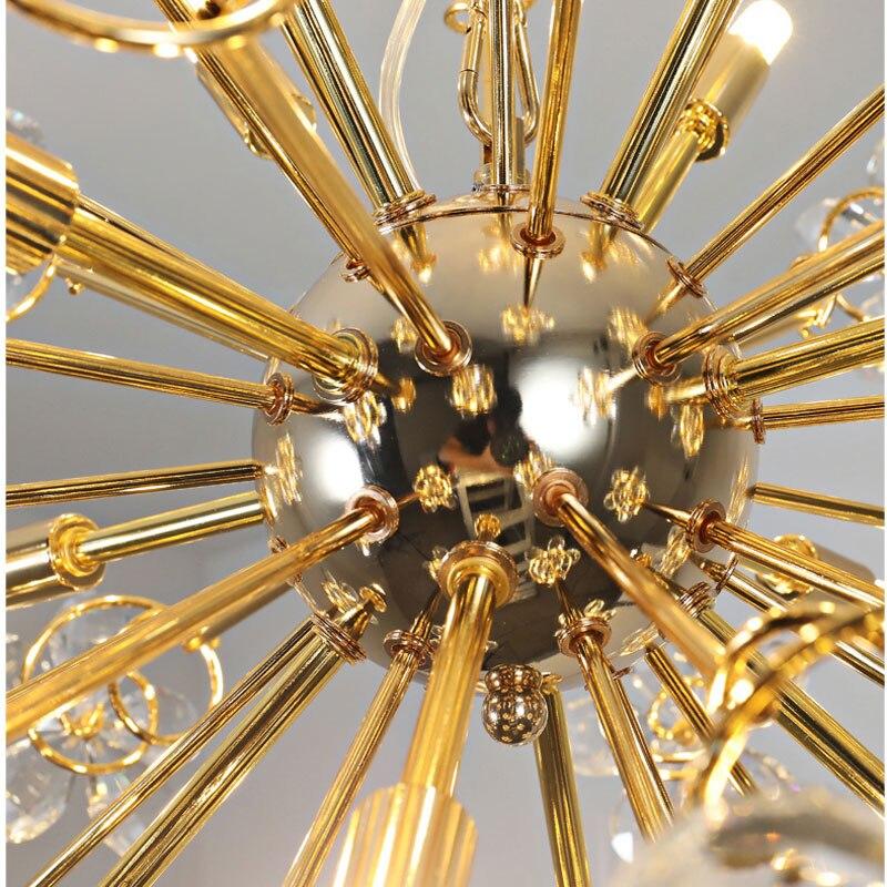 Cristal levou luz do candelabro lâmpada faísca bola dandelion sala de jantar sala de loja de roupas mostrar janela decorativa pendurar lightin - 5