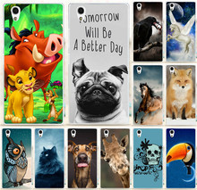 For Lenovo P70 P70T Phone Shell Cute Animal Print Bird eat The eyes Horse Cat Fox Dog Owl Case Cover