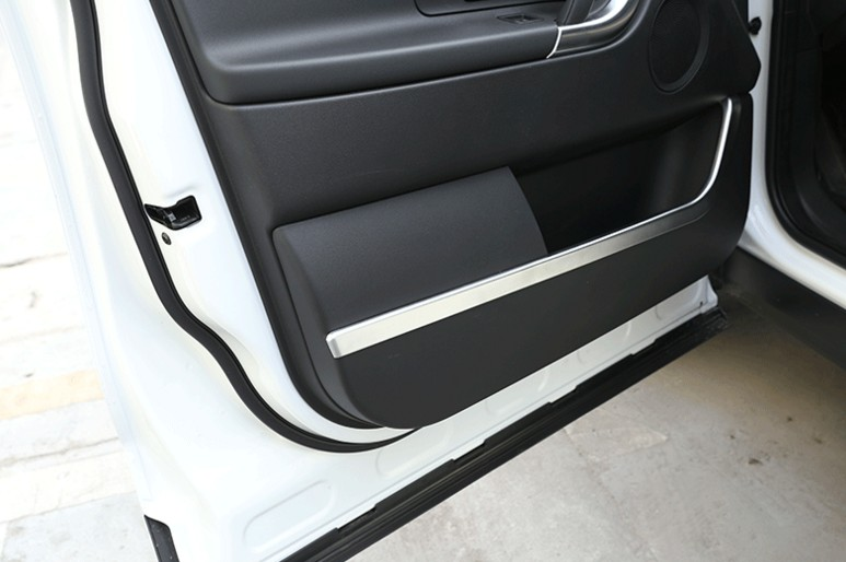 New For Land Rover Discovery Sport 2015 2016 ABS Chrome Interior Door Decorative Strip Trim Sticker Accessories Car Styling 4pcs dee car accessories for land range rover evoque modified sport styling car side wind blade shape fender abs decorative