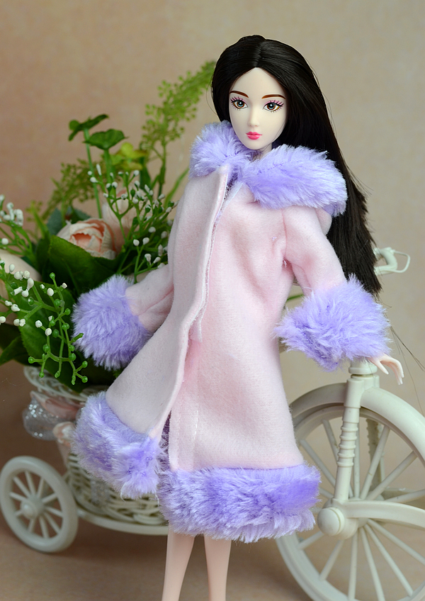 Xmas reward for women Winter Handmade Fairly top quality Coat fur Windbreaker High Garments For Barbie 1:6 Doll BBI00314