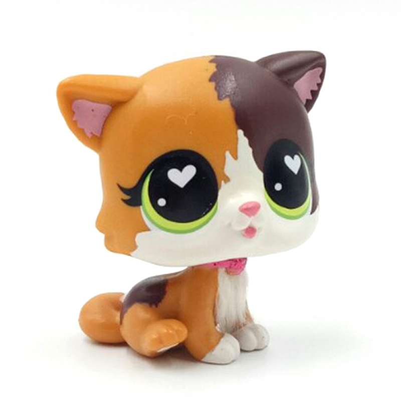 Image 2 - New pet shop lps toys standing Felina Meow short hair cat with white heart green eyes real anime figure toys for children-in Action & Toy Figures from Toys & Hobbies