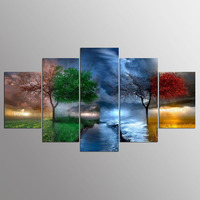 5 Pieces Canvas Art Painting For Living Room Decor Modular High Quality Pictures Wall Art
