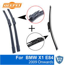 QEEPEI Front and Rear Wiper Blade no Arm For BMW X1 E84 2009 Onwards High quality Natural Rubber windscreen 24+19