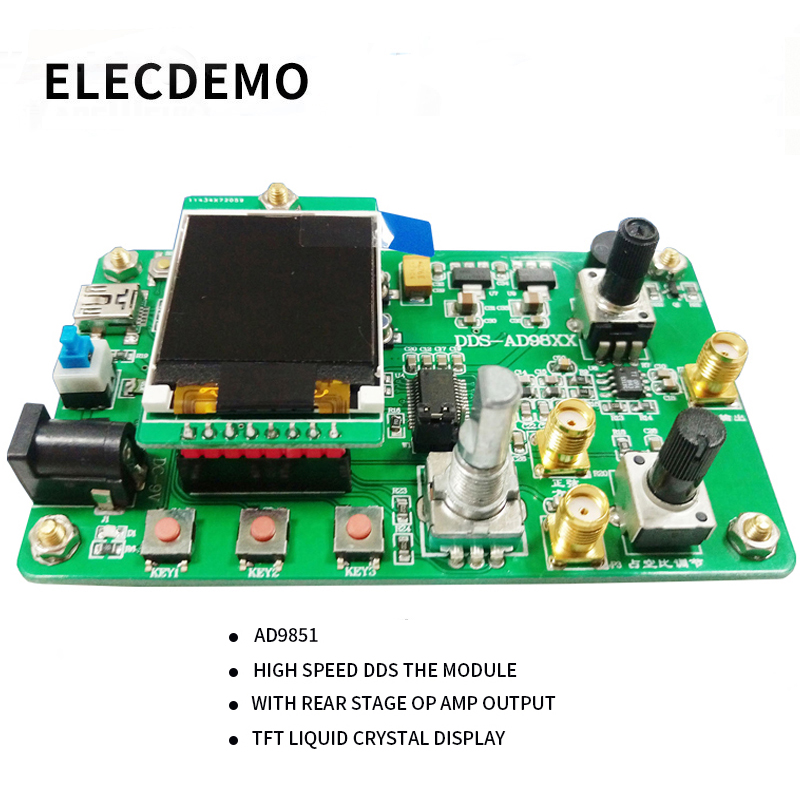 AD9851 High Speed DDS Module Function Signal Generator Send Program Compatible with 9850 Sweep Function-in Demo Board Accessories from Computer & Office