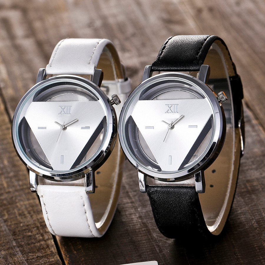Vansvar Fashion 2019 Women Silver Triangle Watch Casual Transparent Hollow Stainless Steel  Quartz Watches Relogio Feminino QVansvar Fashion 2019 Women Silver Triangle Watch Casual Transparent Hollow Stainless Steel  Quartz Watches Relogio Feminino Q