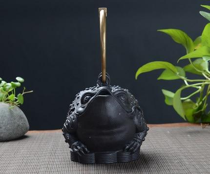 Handmade Old Iron Toad Teakettle 1200ml 3