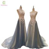 SSYFashion Новое высококачественное длинное вечернее платье невесты роскошные кружева вышивка Бисер градиентные синие платья на выпускной пла