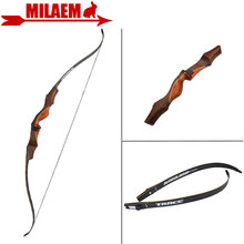 цена на 1Set 60inch 30lbs Archery Recurve Bow Takedown American Hunting Bow Wooden Bow Handle Right Hand Shooting Hunting Accessories