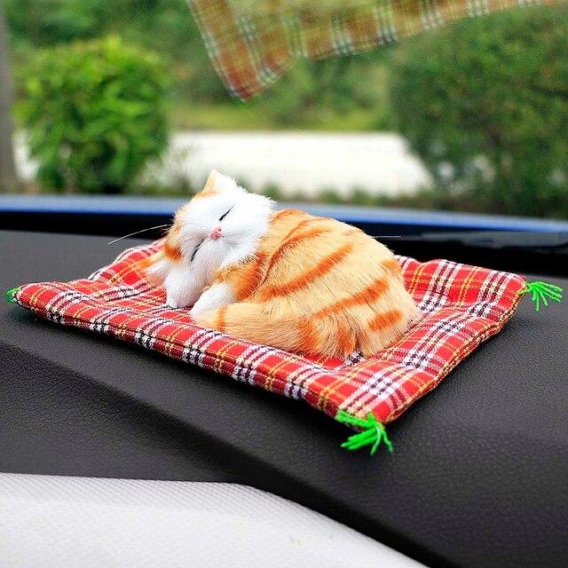 Cute Sleeping Cat Car Ornament