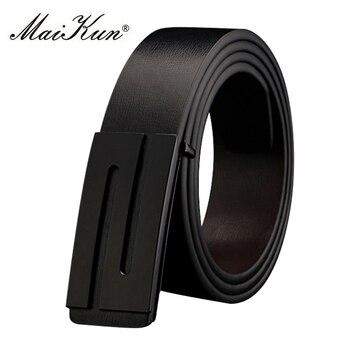 Luxury Leather Belts for Men Reversible Belt Fashion S Letter Smooth Buckle Brand Designers Mens