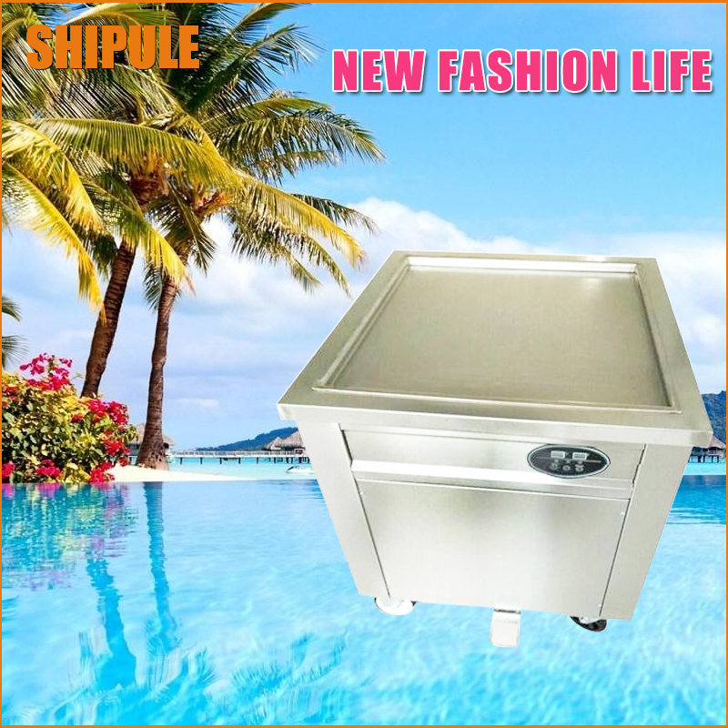 50*50cm Square Pan Fried Ice Cream machine;Fry Ice Cream Roll Maker For Yogurt with Intelligent temperature control 2017 single pan fried ice cream roll machine economical model square pan fried ice machine fry yoghourt machine