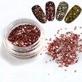 1g/Bottle 4 Cores para Escolher Brilhante Glitter Forma Irregular De Vidro Quebrado Garrafa de Design 3D Decoração de Unhas DIY dicas ND289