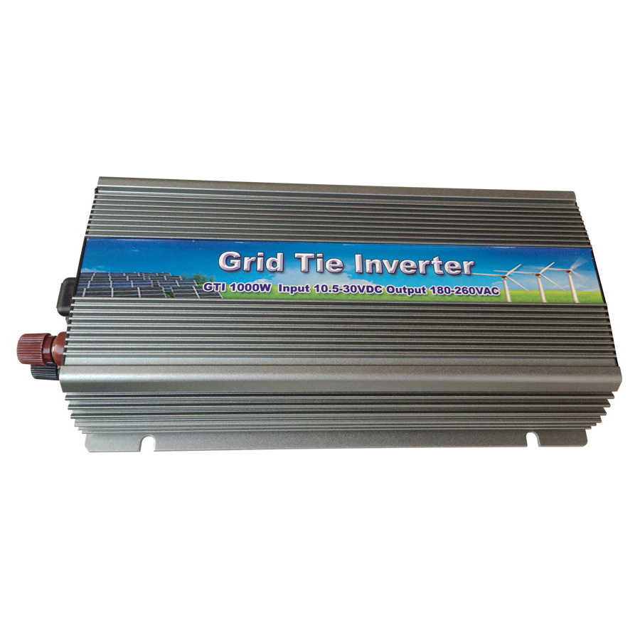 1000W Grid Tie Inverter MPPT Function, 10.5-30VDC to AC180-260V or 90-140V output Solar Wind Micro on grid tie inverter 1000W grid tie solar inverter 250watts 250w new inverter dc 22 60 input to ac output with mppt function