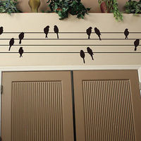 Large Bird On Wire Removable Wall Art Sticker Vinyl Decal Mural Home Decor