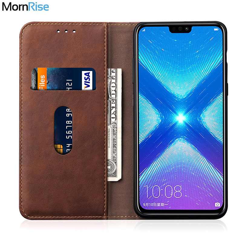 Luxury Retro Slim Leather Flip Cover For Huawei Honor 8X Case Wallet Card Stand Magnetic Book Cover For Honor X8 Phone CasesLuxury Retro Slim Leather Flip Cover For Huawei Honor 8X Case Wallet Card Stand Magnetic Book Cover For Honor X8 Phone Cases