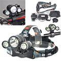 Boruit 6000LM 3*XML T6 3LED Headlight Headlamp Fishing Head Lamp Bike Light for Cycling + EU/US/AU/UK Plug Charger