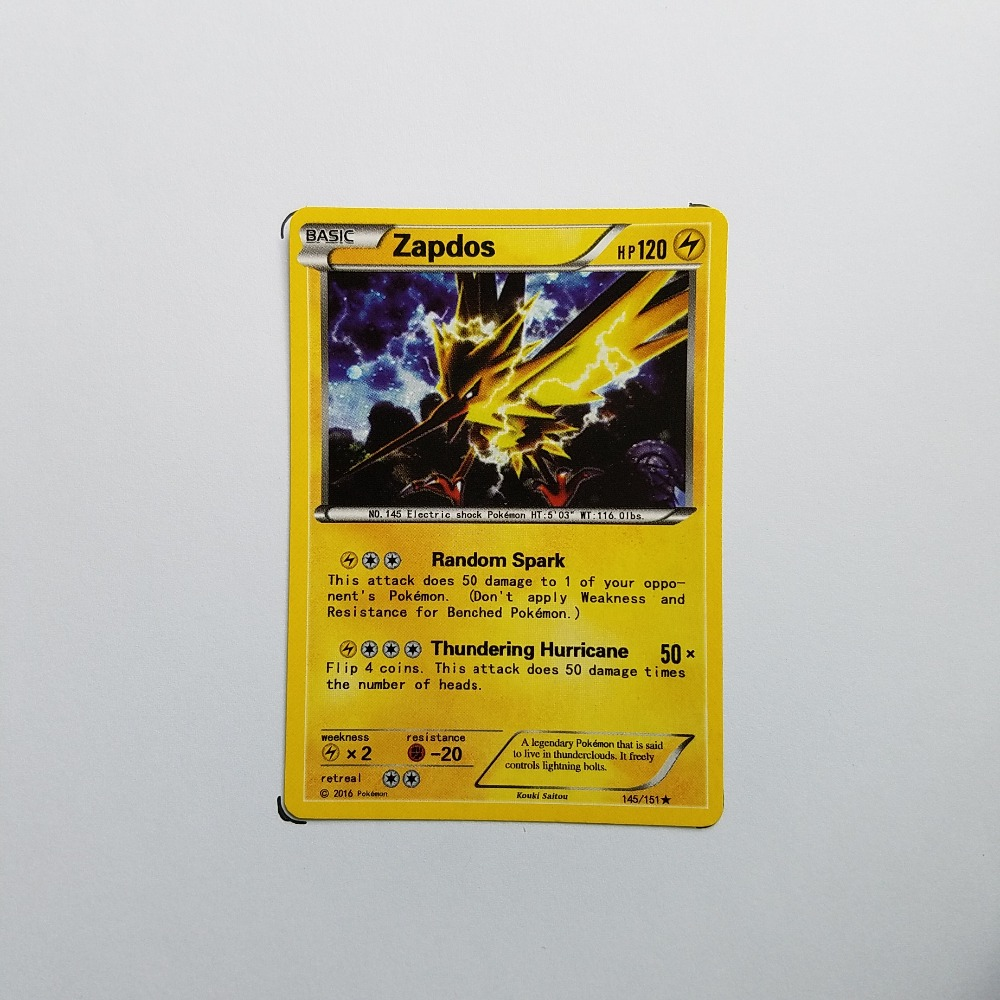 Pokemon Card Single Sale A10008 Zapdos Electrical Properties Basic Ordinary Card Play Anime Toys Cards Game Trading Collection