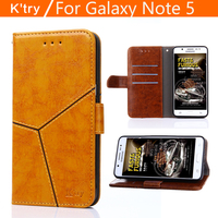 K Try For Samsung Galaxy Note 5 N920 Case Luxury Flip PU Leather Stand Case Book