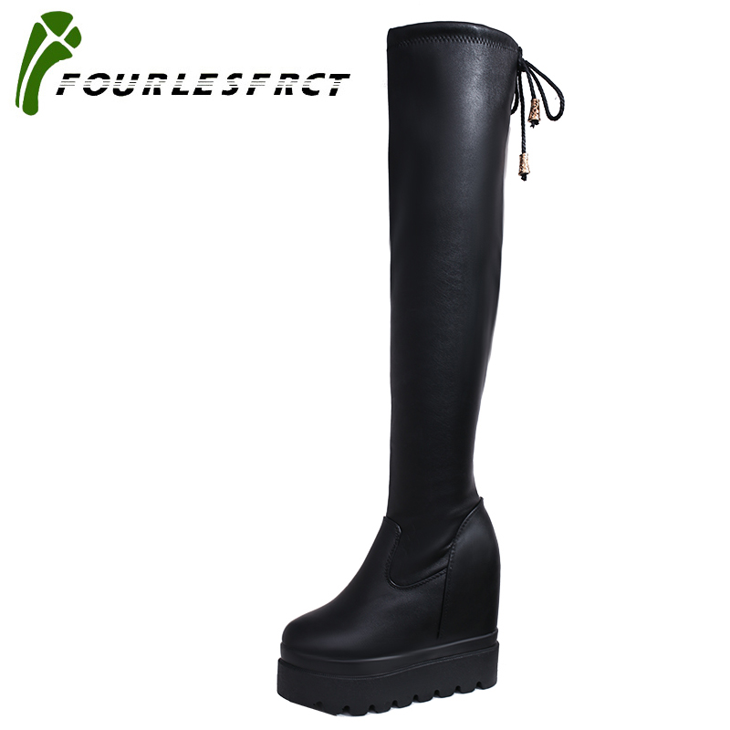 2017 Boots Sexy over the knee high Suede women snow boots women's fashion winter thigh high Black boots shoes woman keep warm 2018 new winter women boots sexy over the knee high snow boots women s fashion winter thigh high boots shoes woman plus size 43