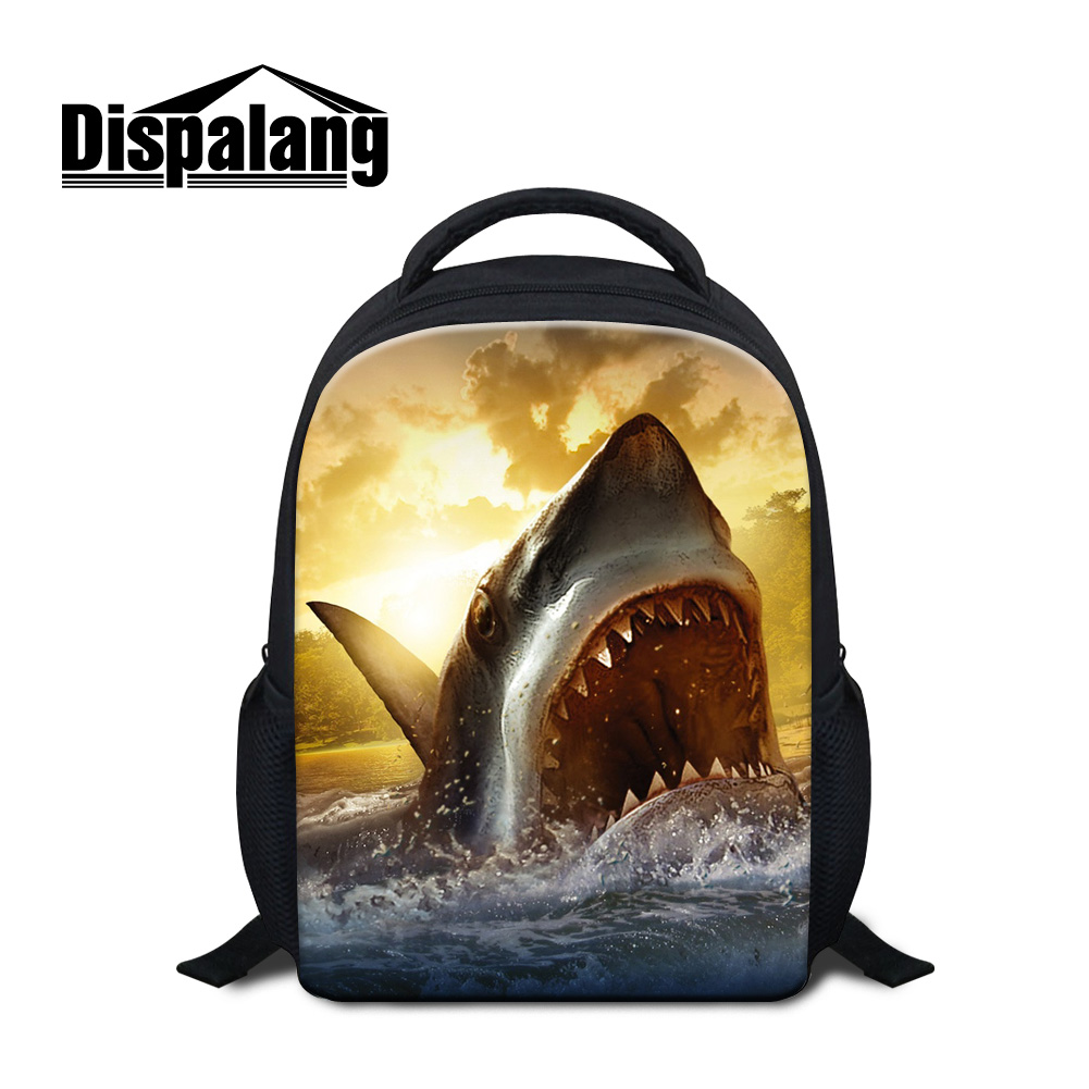 Dispalang 3D shark back pack fashion boys primary school backpacks cool animals print book bags for children travel bags mochila