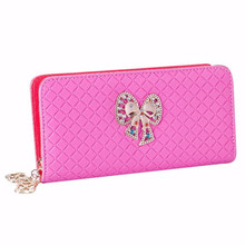 Women wallet Summer Long purse card holder Fashion girl Leather Luxury Butterfly Zipper Brands New Ladies Student bag gift 2017