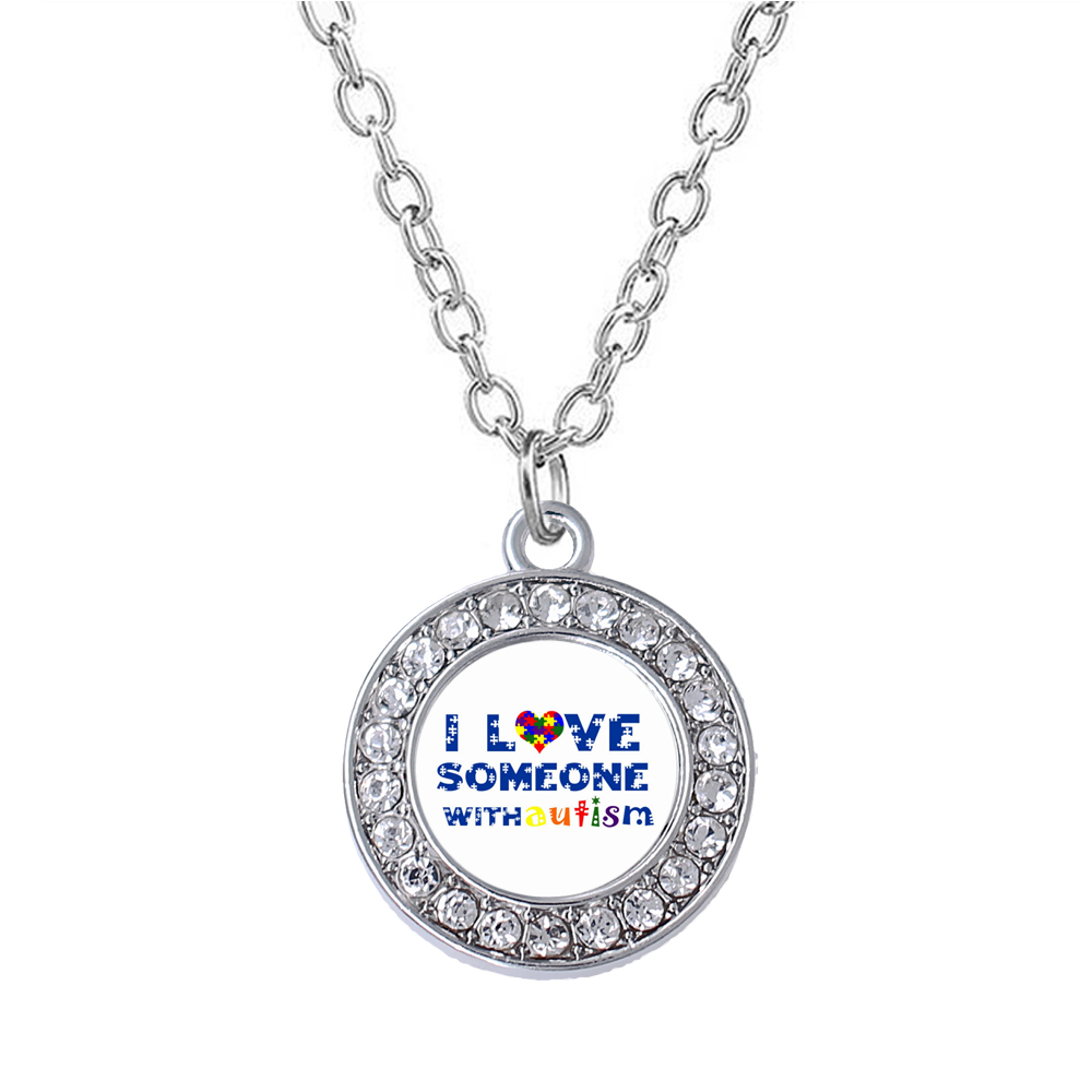 Fashion Care Autistic Patient Jewelry I LOVE SOMEONE WITH
