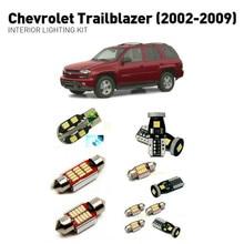 цена на Led interior lights For Chevrolet trailblazer 2002-2009 10pc Led Lights For Cars lighting kit automotive bulbs Canbus